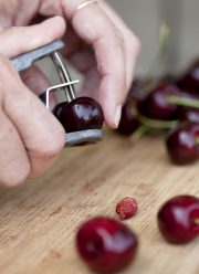 cherry pitting